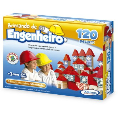 Brincando de Engenheiro - 120 peças - Xalingo