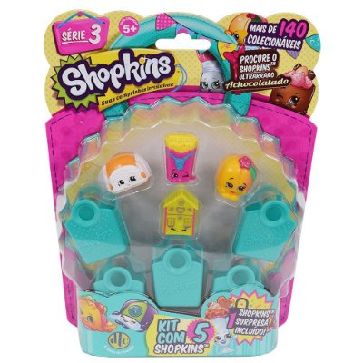 Shopkins Blister Kit com 5 Personagens - Série 3 - DTC