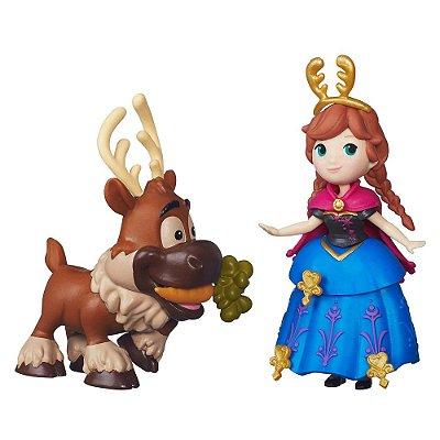 Mini Bonecos Frozen - Anna e Sven - Hasbro