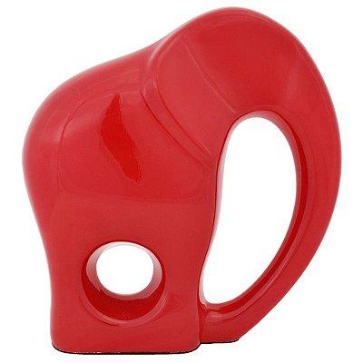 Elefante Decorativo Faune Vermelho - Ana Maria