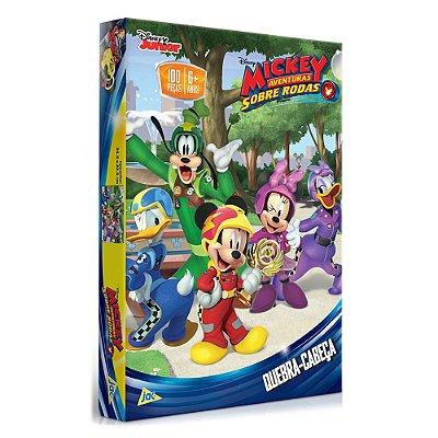Quebra-Cabeça Mickey Aventuras Sobre Rodas - 100 Peças - Toyster