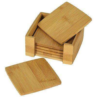 Conjunto Porta Copos em Bambu - Mimo Style