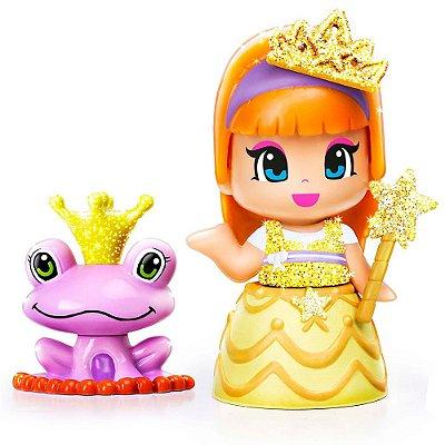 Boneca Pinypon Princesas - Vestido Amarelo - Multikids