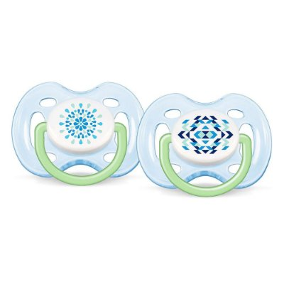 Chupeta Freeflow  Azul Philips Avent - 2 peças - Fase 1