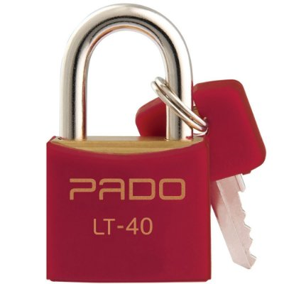 Cadeado Com Chaves Colors - LT 40mm - Vermelho - Pado