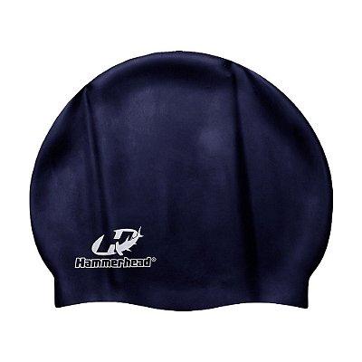 Touca de Silicone Júnior - Azul Marinho - Hammerhead