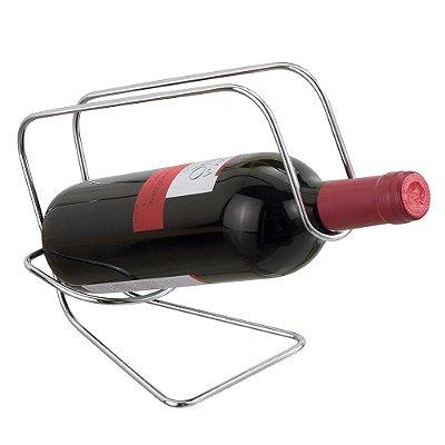 Suporte para Garrafa de Vinho em Aço Cromado - Passerini