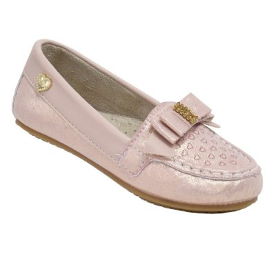 Sapato Mocassim Infantil Curumim Rosa - Klin