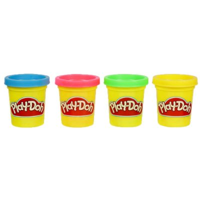 Conjunto Play-Doh 4 Mini Potes de Massinha - Hasbro