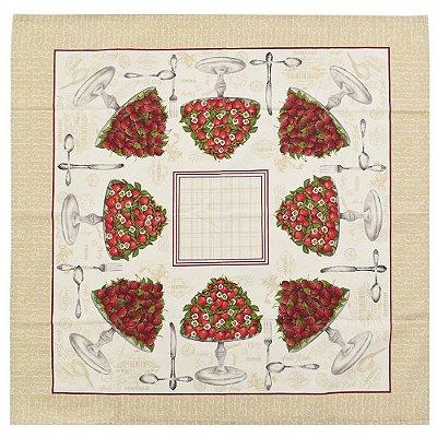 Toalha de Mesa 78 x 78 cm - Banquete de Morangos - Karsten