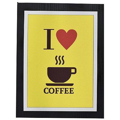 Quadro Decorativo I Love Coffee - 30 x 23 cm