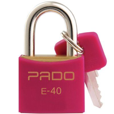Cadeado Com Chaves Colors - E 40mm - Rosa - Pado