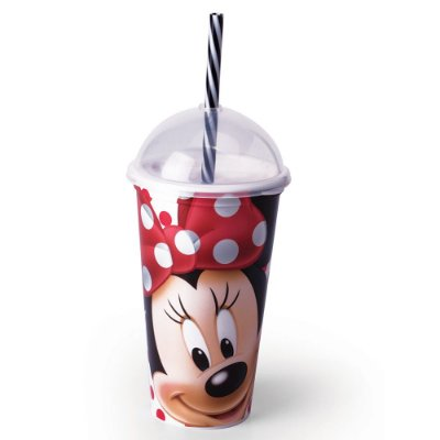 Copo com Canudo Minnie - 500 ml - Plasútil