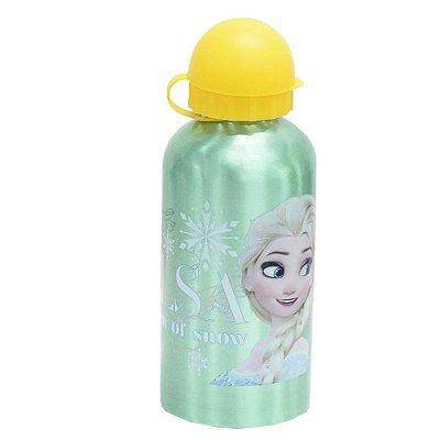 Garrafa Infantil De Alumínio 500ml - Elsa Verde - Frozen - DTC