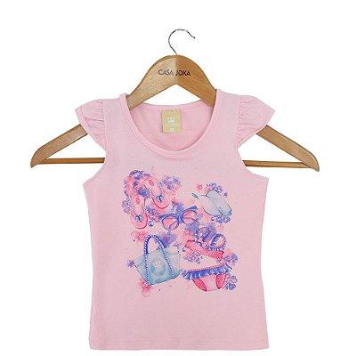 Regata Infantil Fashionista - Rosa - Colorittá