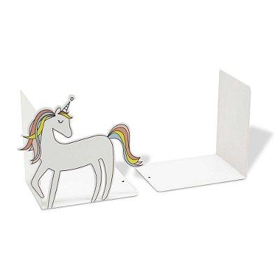 Aparador de Livros - 2 Peças - Unicórnio Branco - Geguton