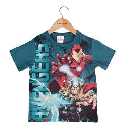 Camiseta Infantil Masculina Avengers - Brilha no Escuro - Brandili