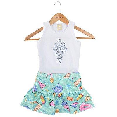 Conjunto Infantil Feminino - Sorvete - Colorittá