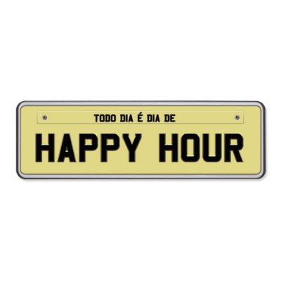 Super Ímãs Placa - Happy Hour - Geguton
