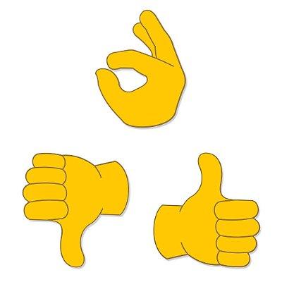 Super Ímãs Emojis - Mãozinhas - 3 Peças - Geguton