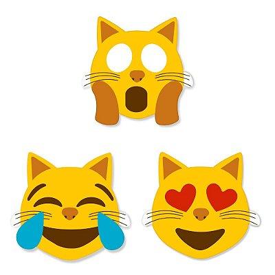 Super Ímãs Emojis - Gatinhos - 3 Peças - Geguton