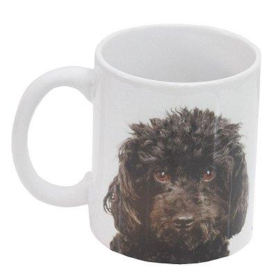 Caneca de Cerâmica - Eu amo meu Poodle - Vikos