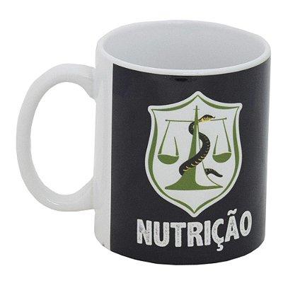 Caneca Profissão Preta 300ml - Nutrição - Vikos