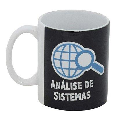 Caneca Profissão Preta 300ml - Análise de Sistemas - Vikos
