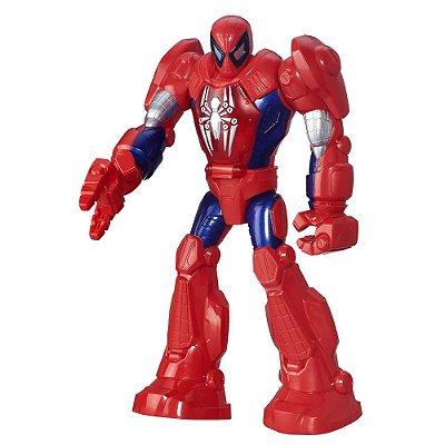 Boneco Homem-Aranha - Armadura - Marvel Super Hero Adventures - Hasbro