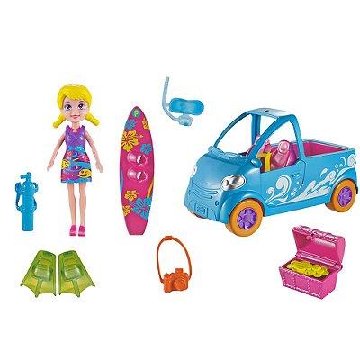 Polly Pocket Veículo - Van de Surf - Mattel