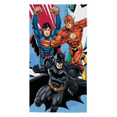 Toalha de Banho Aveludada - Heróis Liga da Justiça - Lepper