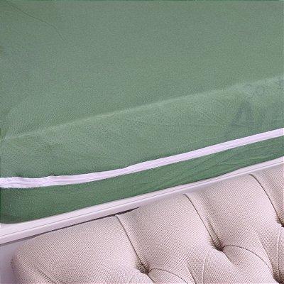 Capa Para Colchão Em Malha Casal - Sonhos & Anjos - Verde Eucalipto - Sulbrasil