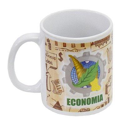 Caneca de Cerâmica Profissões 300ml - Economia - Vikos