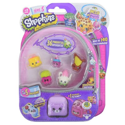 Shopkins Blister Kit 3 com 5 Personagens - Série 5 - DTC