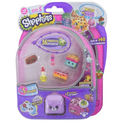Shopkins Blister Kit 1 com 5 Personagens - Série 5 - DTC