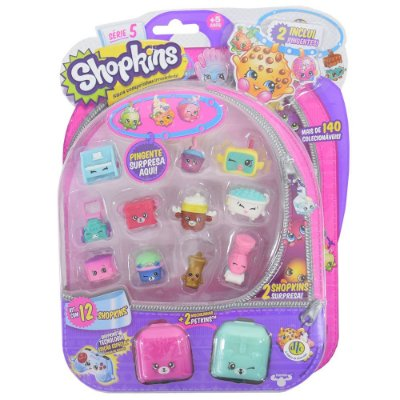 Shopkins Blister Kit 3 com 12 Personagens - Série 5 - DTC