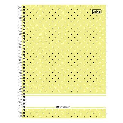 Caderno Academie Poá - Amarelo - 1 Matéria - Tilibra
