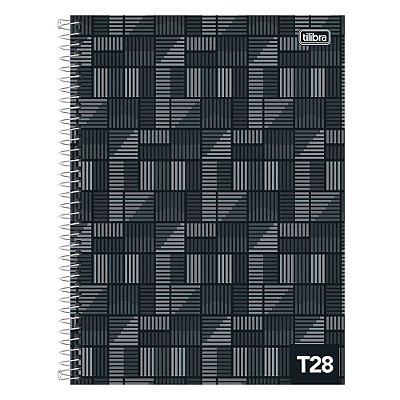 Caderno T28 Decorado - 1 Matéria - Preto - Tilibra