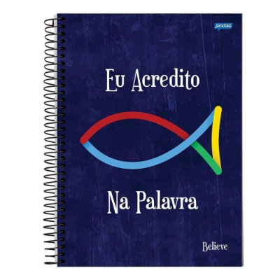 Caderno Believe - Eu Acredito na Palavra - 1 Matéria - Jandaia