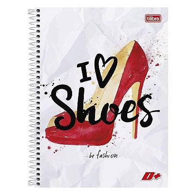 Caderno I Love Shoes - 1 Matérial - Tilibra
