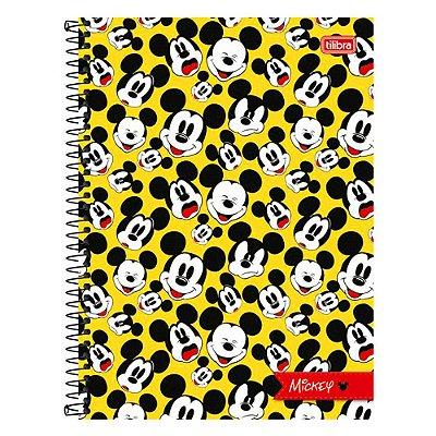 Caderno Mickey Mouse - Rostinho Mickey - 1 Matéria - Tilibra