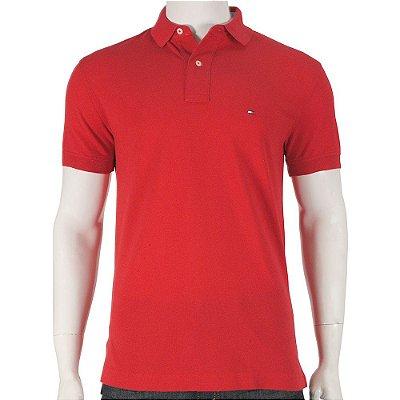 Camisa Polo Slim Fit - Vermelho - Tommy Hilfiger