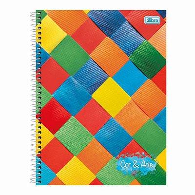 Caderno Universitário Cor & Arte - 10 Matérias - Tilibra