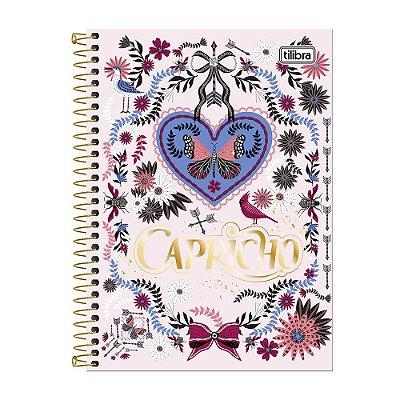 Caderno Universitário Capricho - Borboleta - 10 matérias