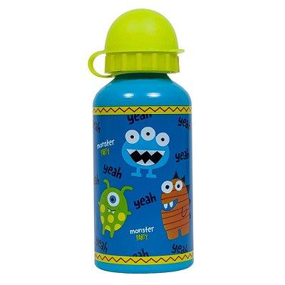 Garrafa Infantil De Alumínio 400ml - Monster Party - Buba
