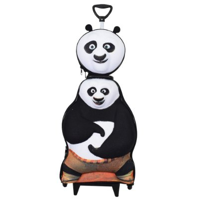 Kit Mochila Infantil 3D + Lancheira - Kung Fu Panda - Diplomata