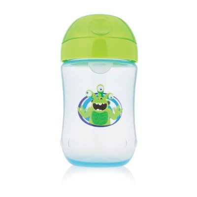 Copo Infantil Monstrinhos 270ml - Azul e Verde - Dr Brown's