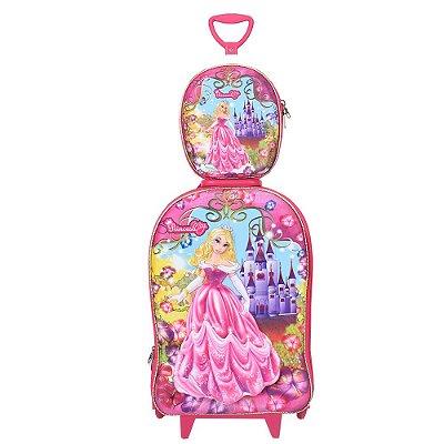 Kit Mochila Infantil 3D + Lancheira - Princesa Meg