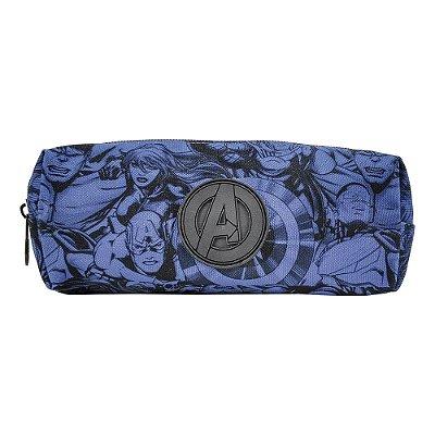 Estojo Teen Avengers - Os Vingadores - Azul - Xeryus