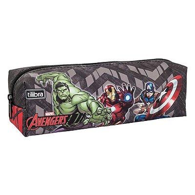 Estojo Avengers - Os Vingadores - Cinza - Tilibra